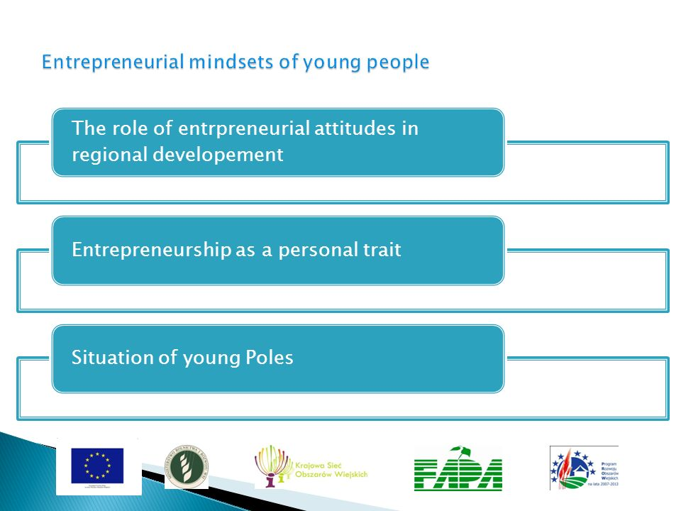 Entrepreneurial mindsets of young people