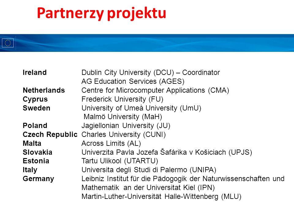 Partnerzy projektu Ireland Dublin City University (DCU) – Coordinator