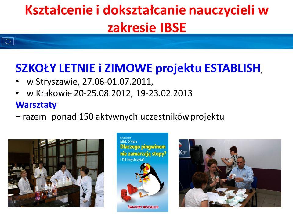 Kształcenie i dokształcanie nauczycieli w zakresie IBSE