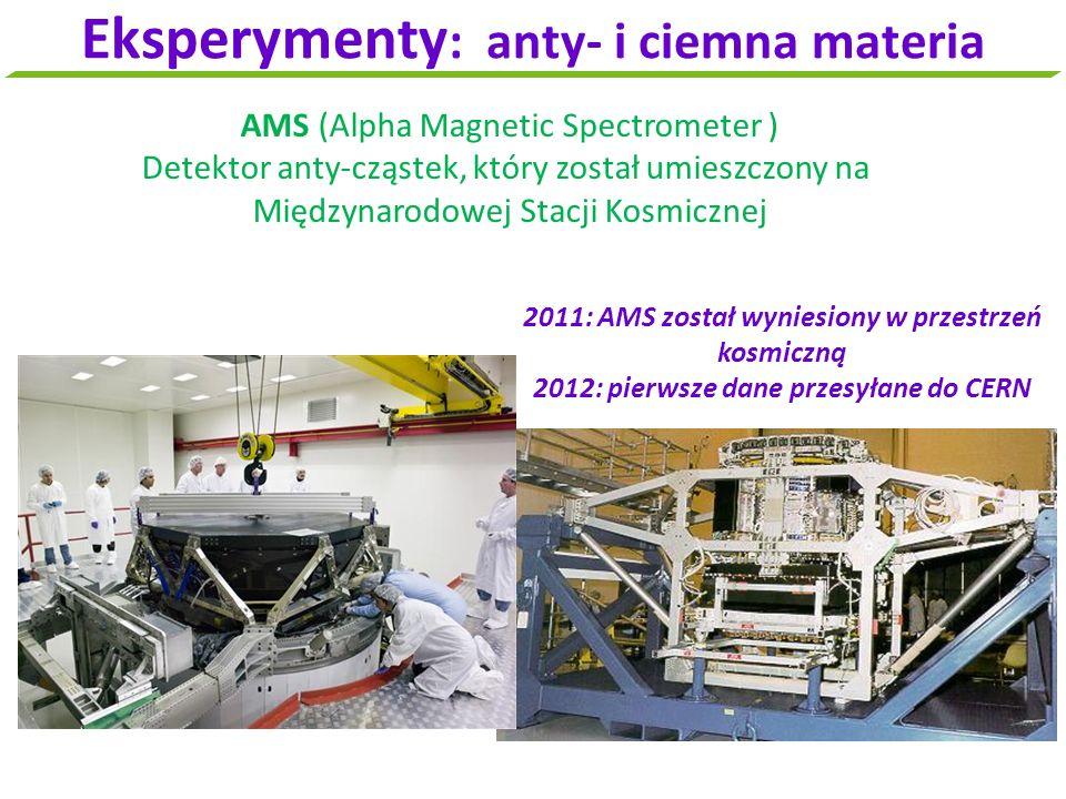 Eksperymenty: anty- i ciemna materia