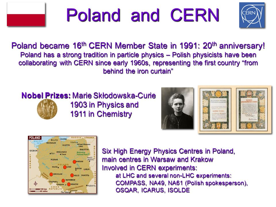 Poland became 16th CERN Member State in 1991: 20th anniversary!
