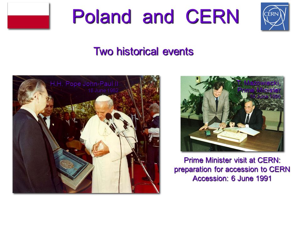 Prime Minister visit at CERN: preparation for accession to CERN