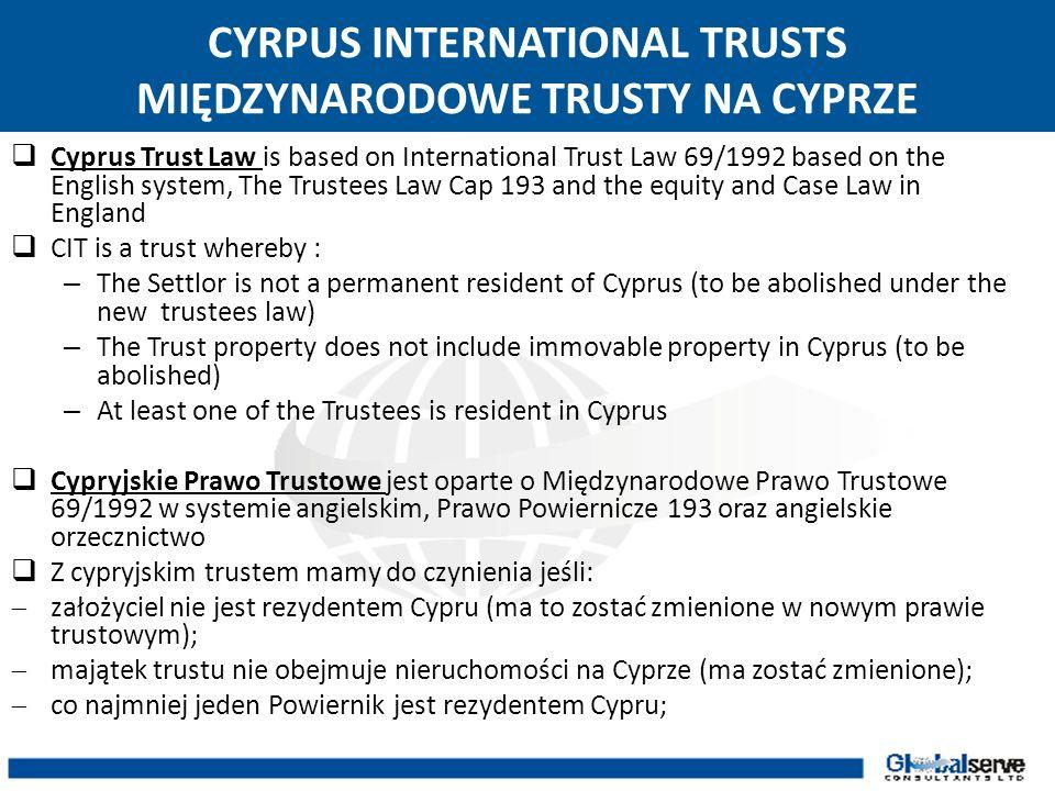 CYRPUS INTERNATIONAL TRUSTS MIĘDZYNARODOWE TRUSTY NA CYPRZE