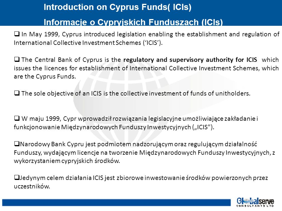 Introduction on Cyprus Funds( ICIs)