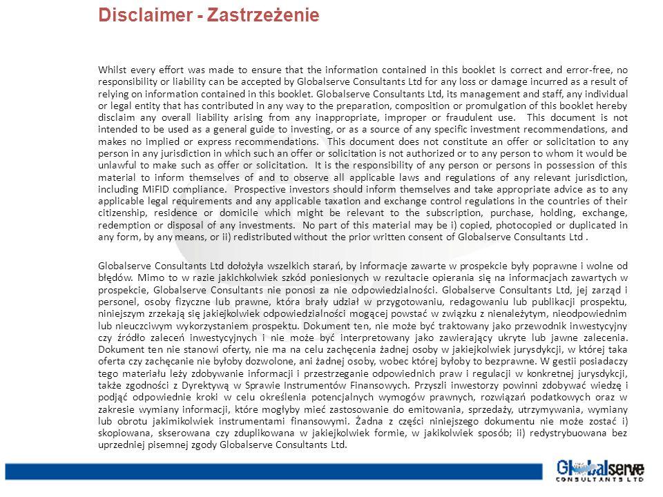 Disclaimer - Zastrzeżenie