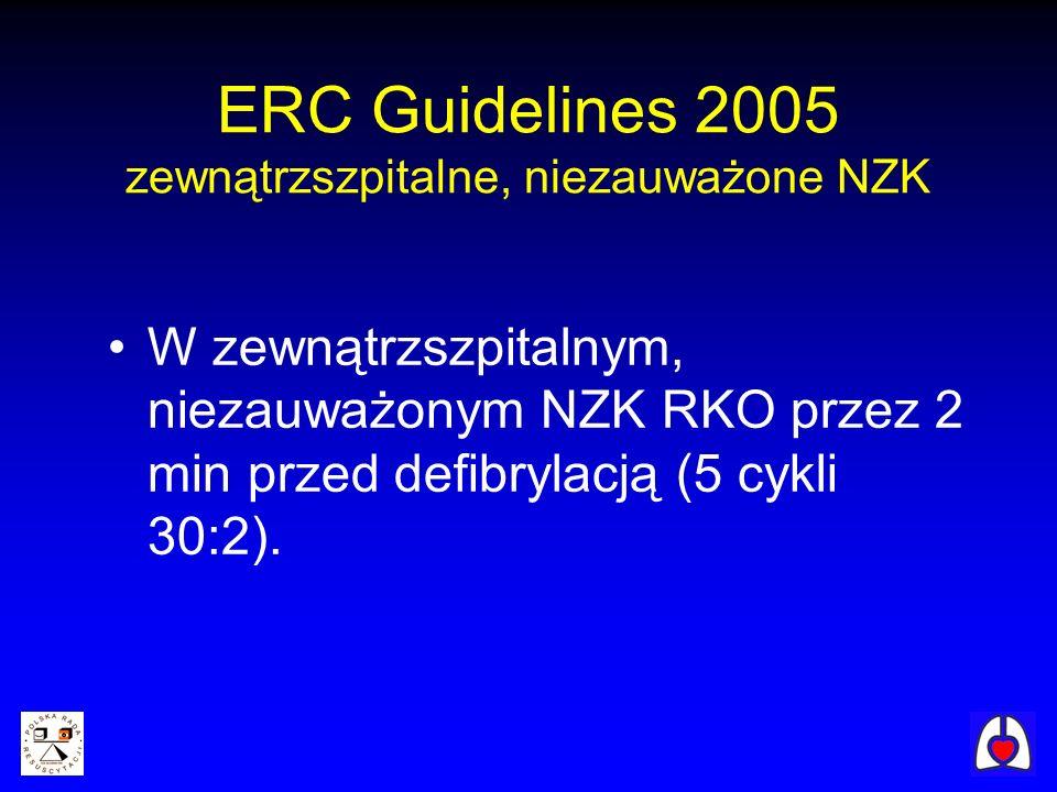 ERC Guidelines 2005 zewnątrzszpitalne, niezauważone NZK