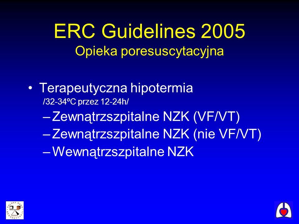 ERC Guidelines 2005 Opieka poresuscytacyjna