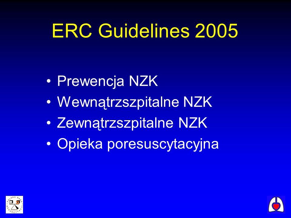 ERC Guidelines 2005 Prewencja NZK Wewnątrzszpitalne NZK
