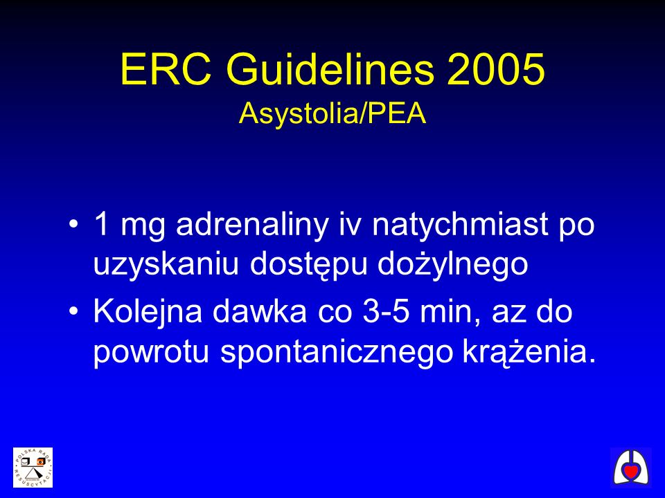 ERC Guidelines 2005 Asystolia/PEA