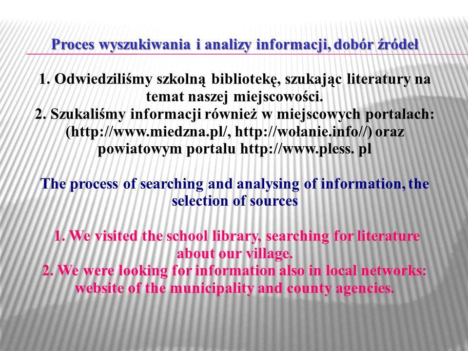Proces wyszukiwania i analizy informacji, dobór źródeł