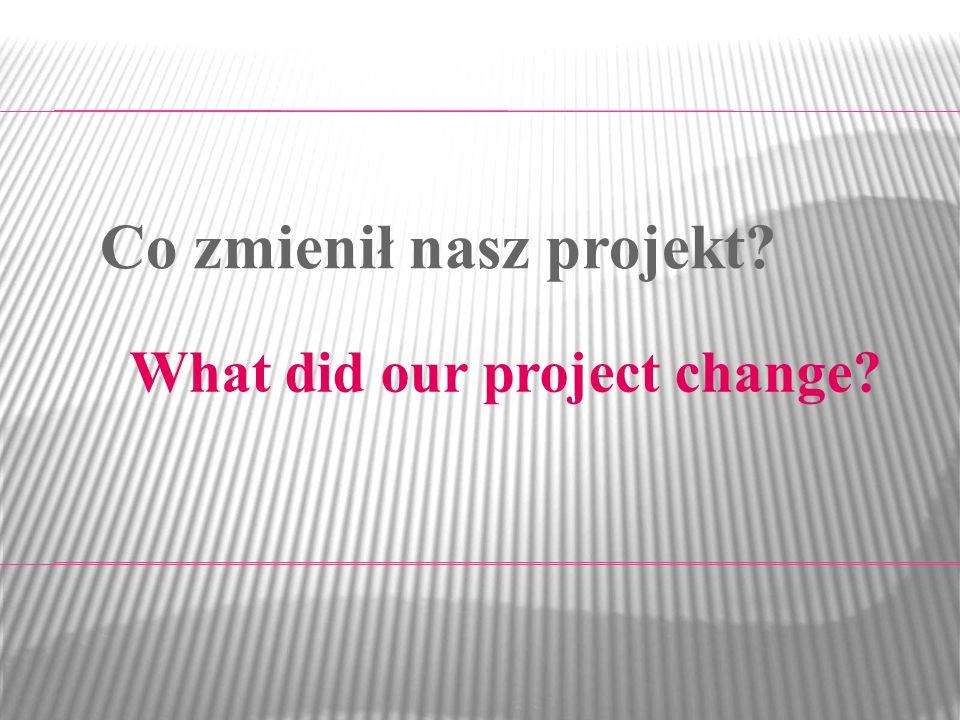 Co zmienił nasz projekt