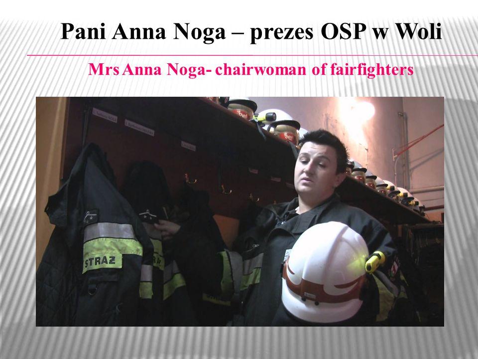 Pani Anna Noga – prezes OSP w Woli
