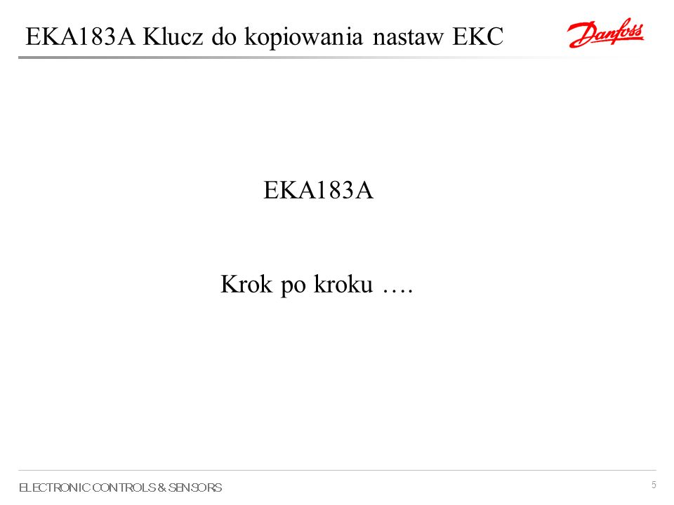EKA183A Klucz do kopiowania nastaw EKC