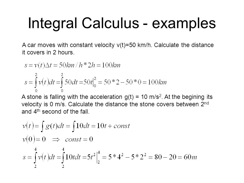 Integral Calculus - examples