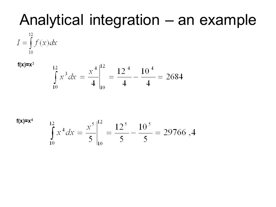 Analytical integration – an example