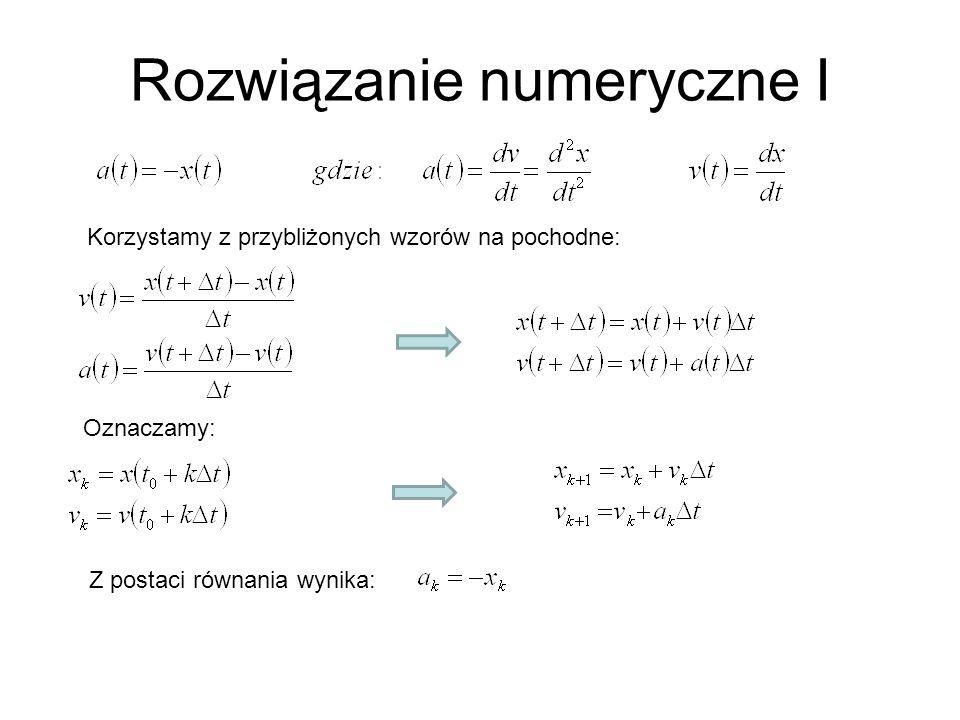 Rozwiązanie numeryczne I