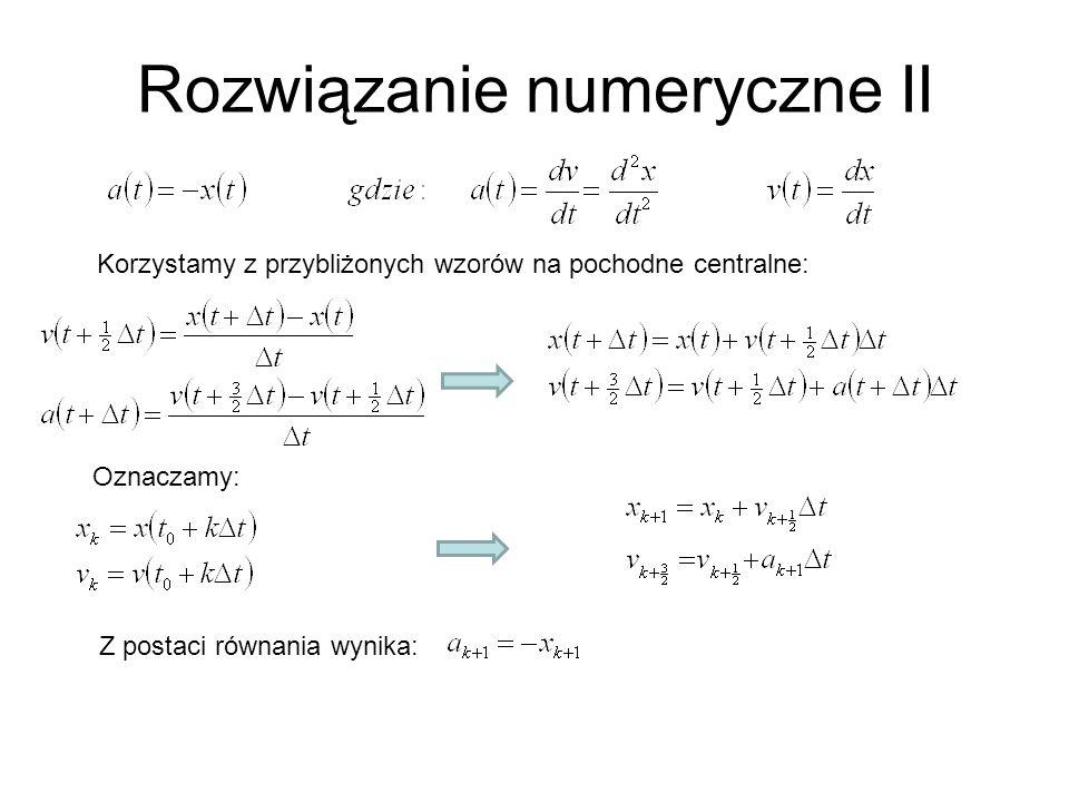 Rozwiązanie numeryczne II