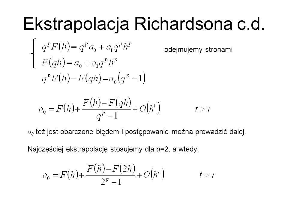 Ekstrapolacja Richardsona c.d.