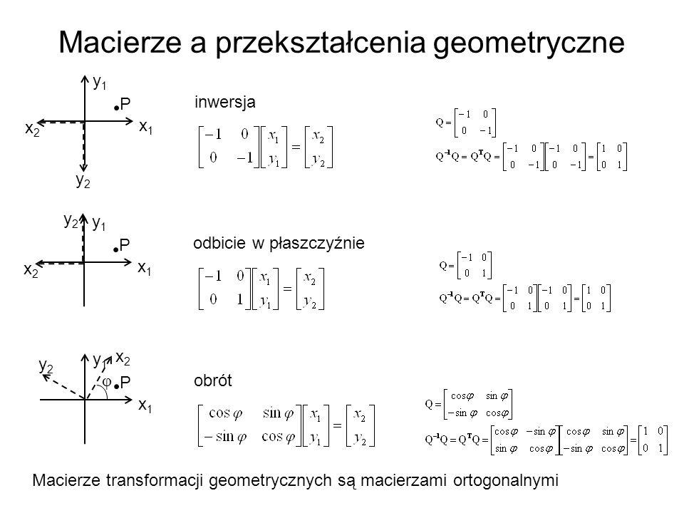 Macierze a przekształcenia geometryczne
