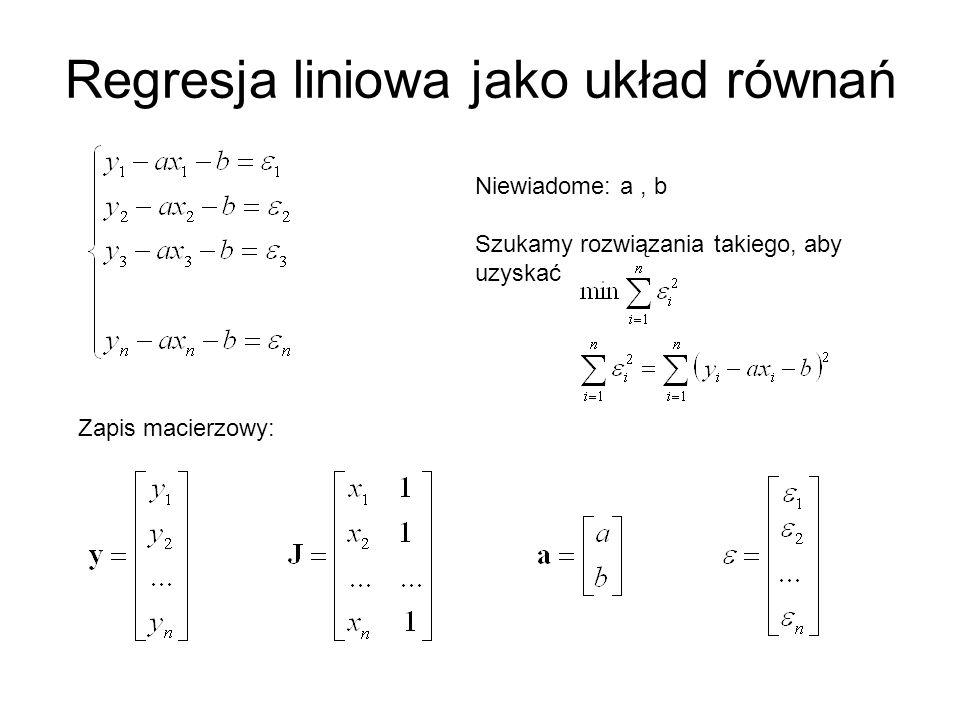 Regresja liniowa jako układ równań