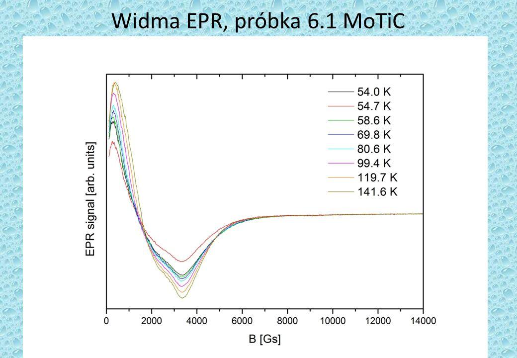 Widma EPR, próbka 6.1 MoTiC