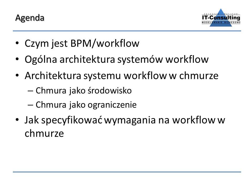 Czym jest BPM/workflow Ogólna architektura systemów workflow