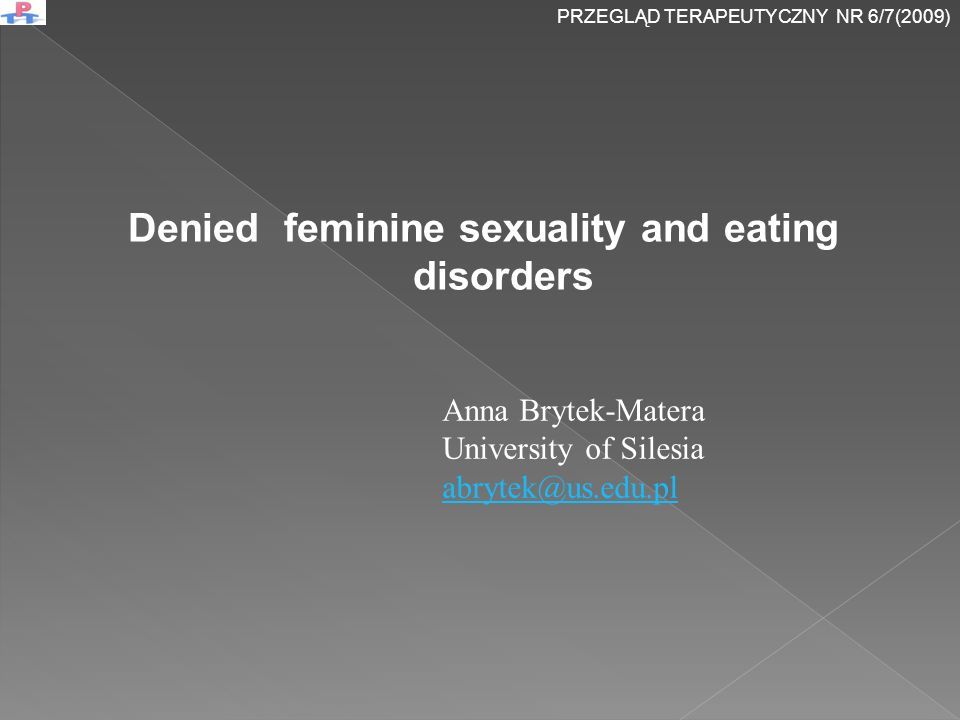 Denied feminine sexuality and eating disorders