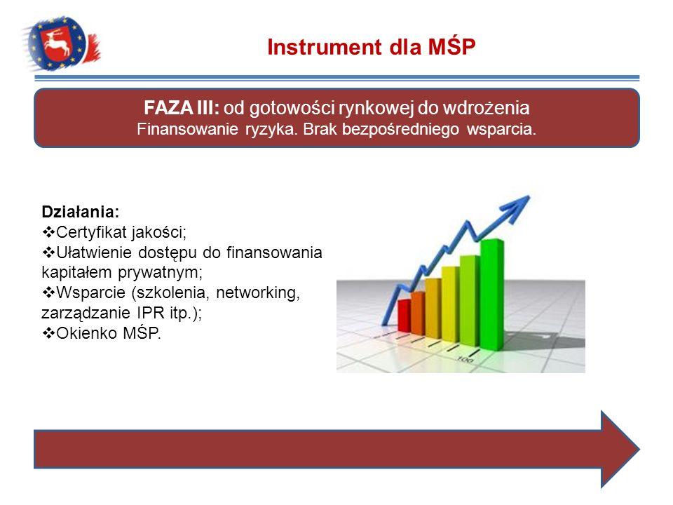 Instrument dla MŚP FAZA III: od gotowości rynkowej do wdrożenia