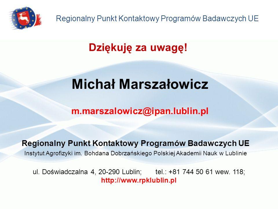 Regionalny Punkt Kontaktowy Programów Badawczych UE