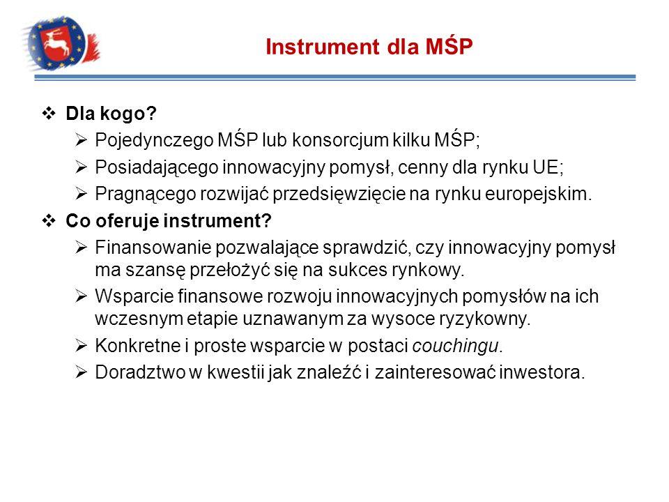 Instrument dla MŚP Dla kogo