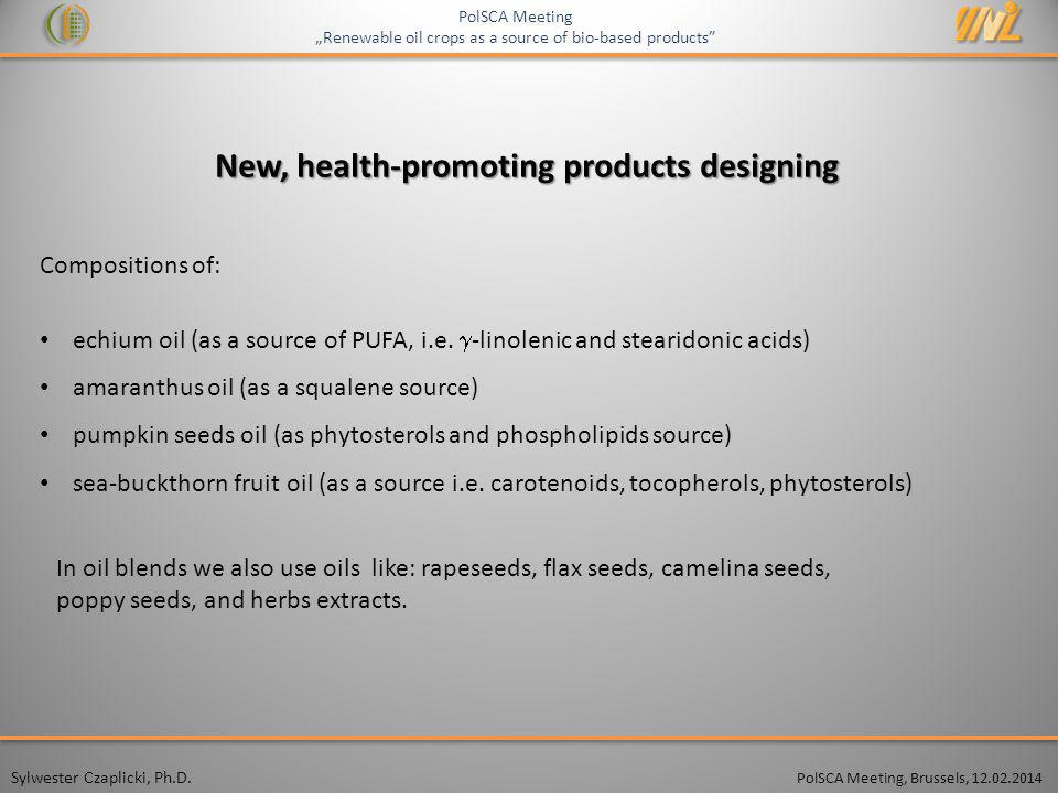 New, health-promoting products designing