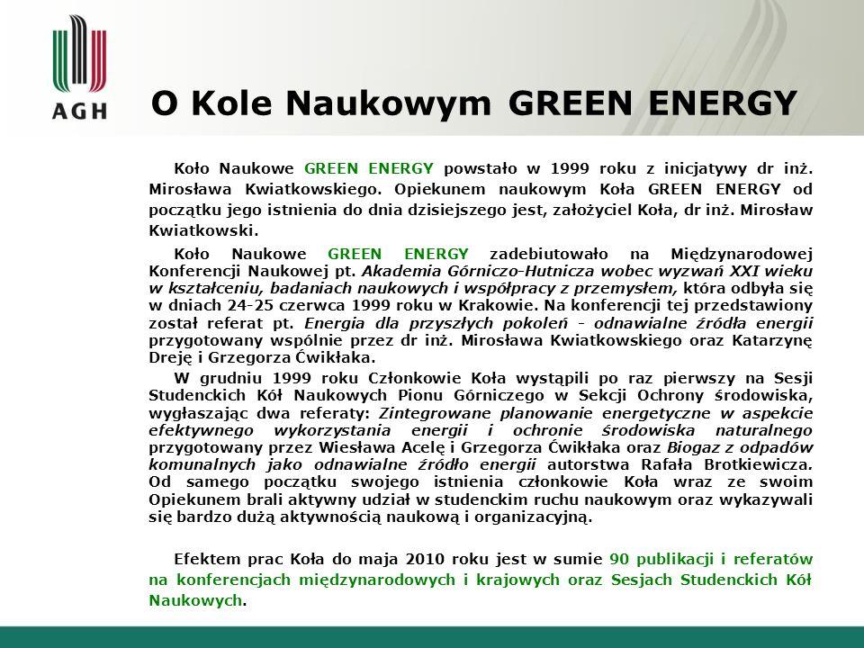 O Kole Naukowym GREEN ENERGY