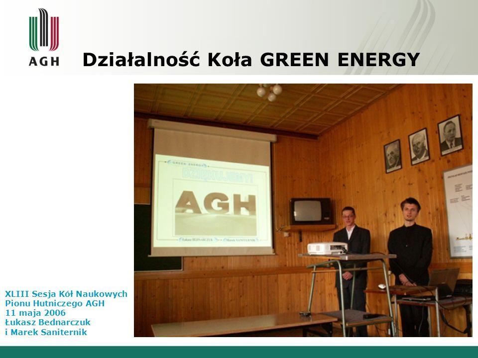 Działalność Koła GREEN ENERGY