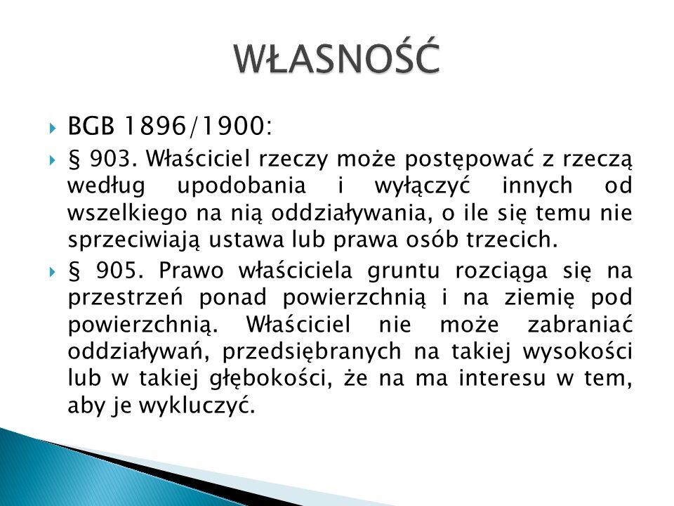 WŁASNOŚĆ BGB 1896/1900: