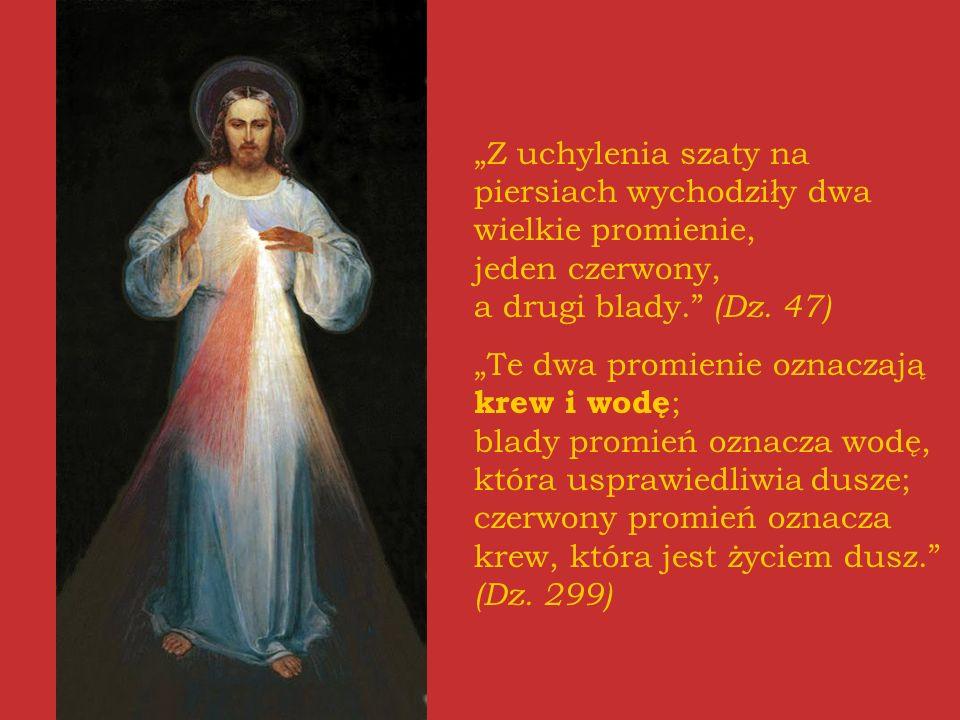 """""""Z uchylenia szaty na piersiach wychodziły dwa wielkie promienie, jeden czerwony, a drugi blady. (Dz. 47)"""