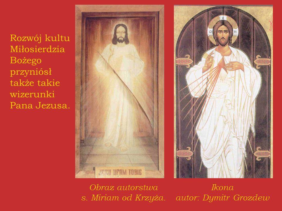 Rozwój kultu Miłosierdzia Bożego przyniósł także takie wizerunki Pana Jezusa.