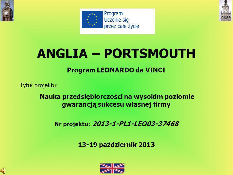 ANGLIA – PORTSMOUTH Program LEONARDO da VINCI
