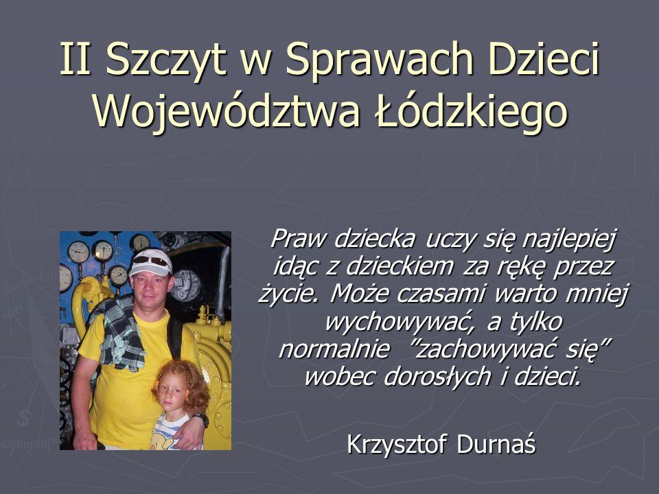 II Szczyt w Sprawach Dzieci Województwa Łódzkiego