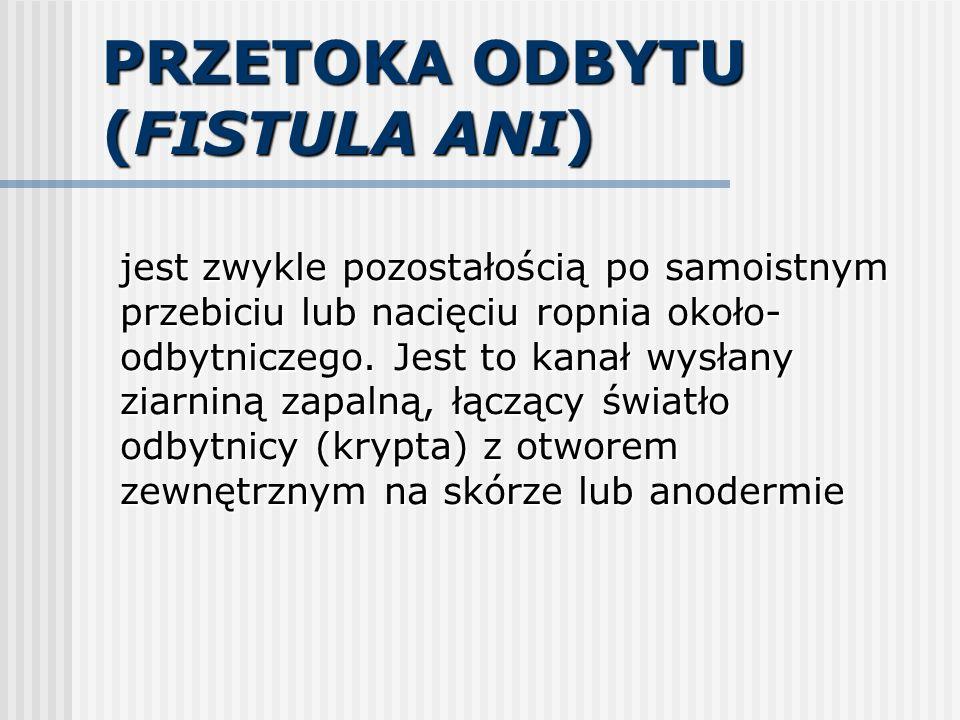 PRZETOKA ODBYTU (FISTULA ANI)