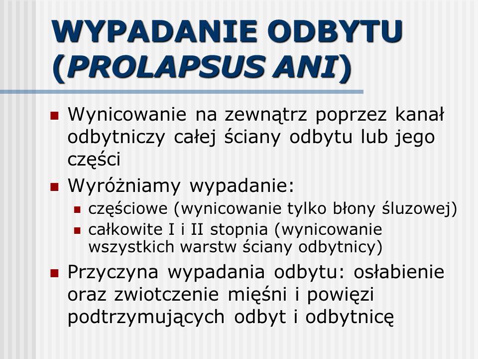 WYPADANIE ODBYTU (PROLAPSUS ANI)