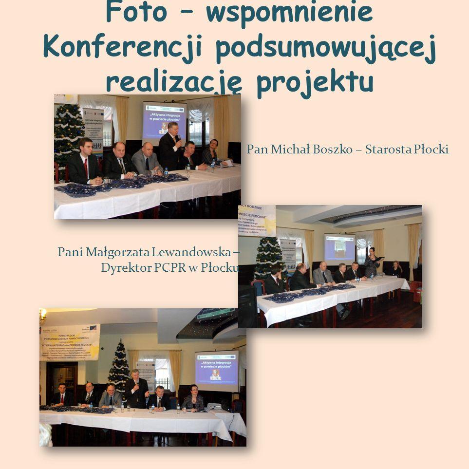Foto – wspomnienie Konferencji podsumowującej realizację projektu