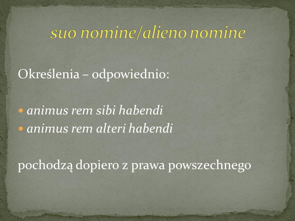 suo nomine/alieno nomine