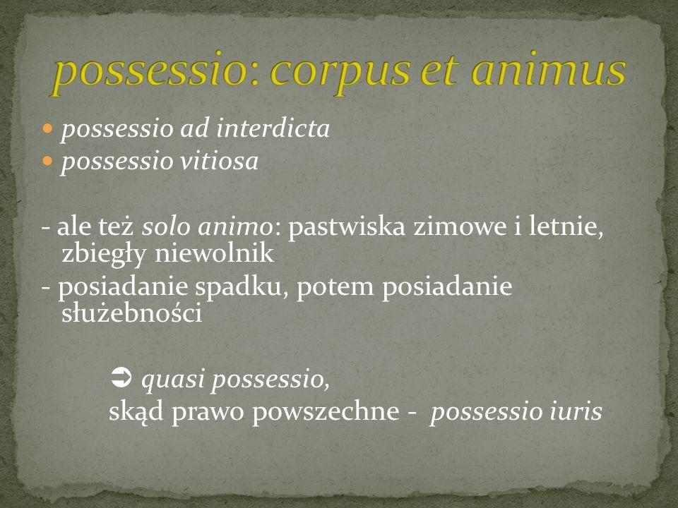 possessio: corpus et animus