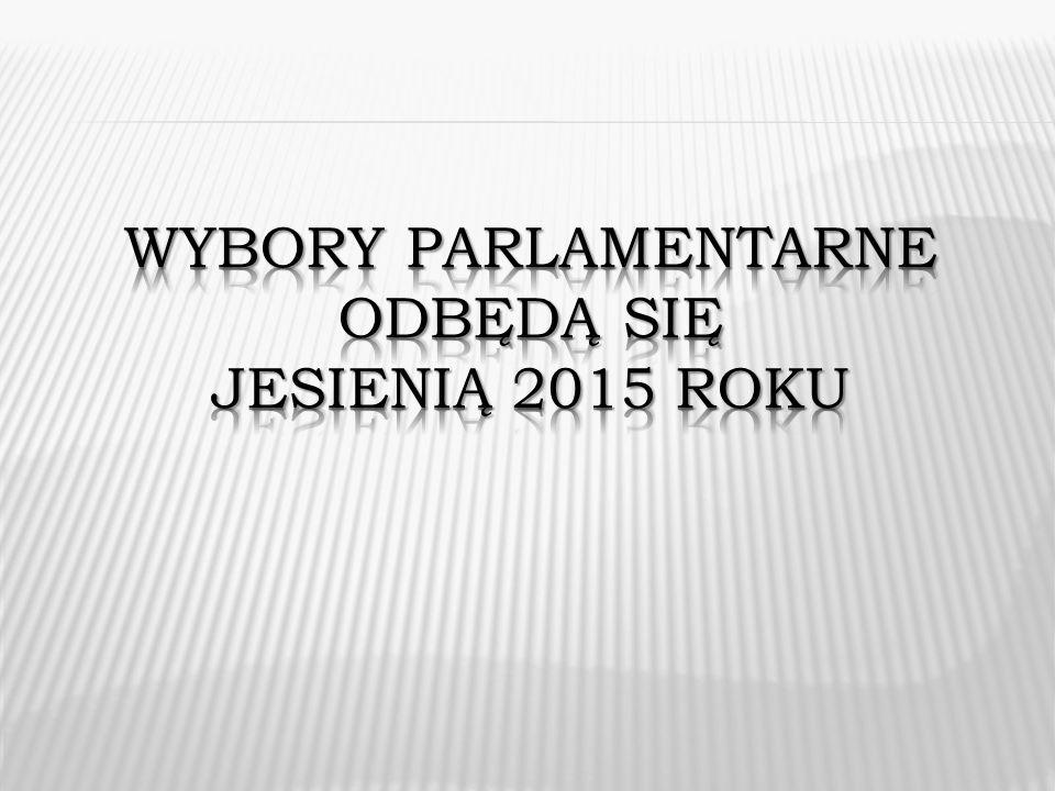 Wybory parlamentarne odbędą się jesienią 2015 roku