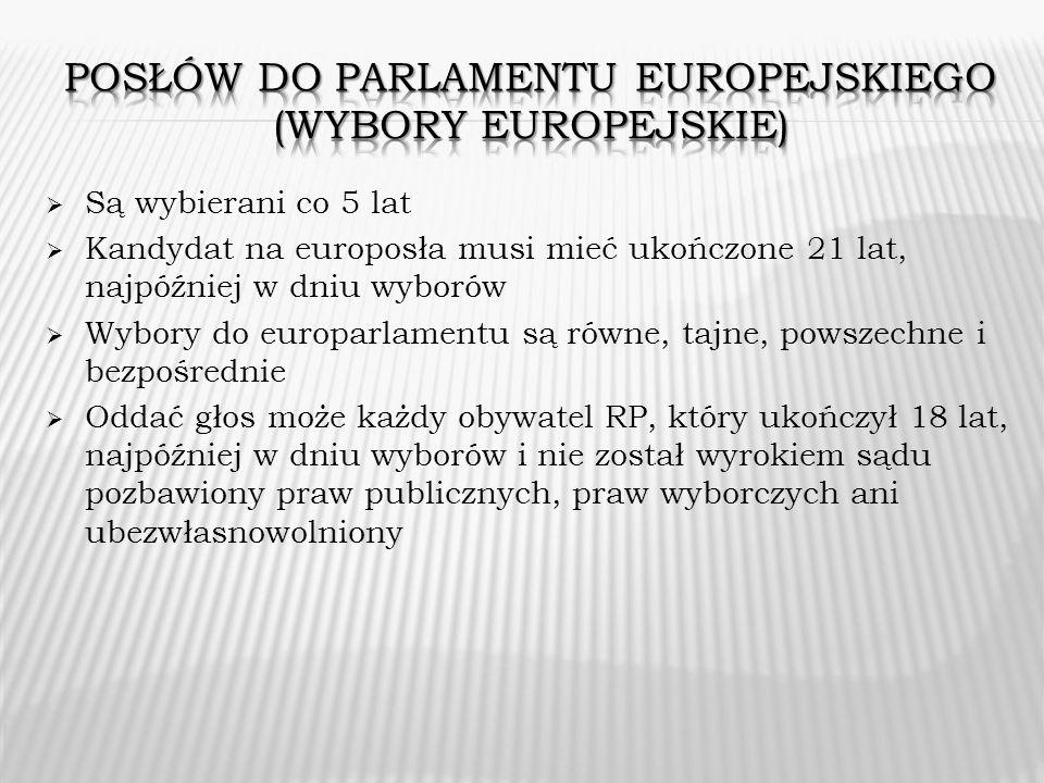 Posłów do parlamentu europejskiego (wybory europejskie)
