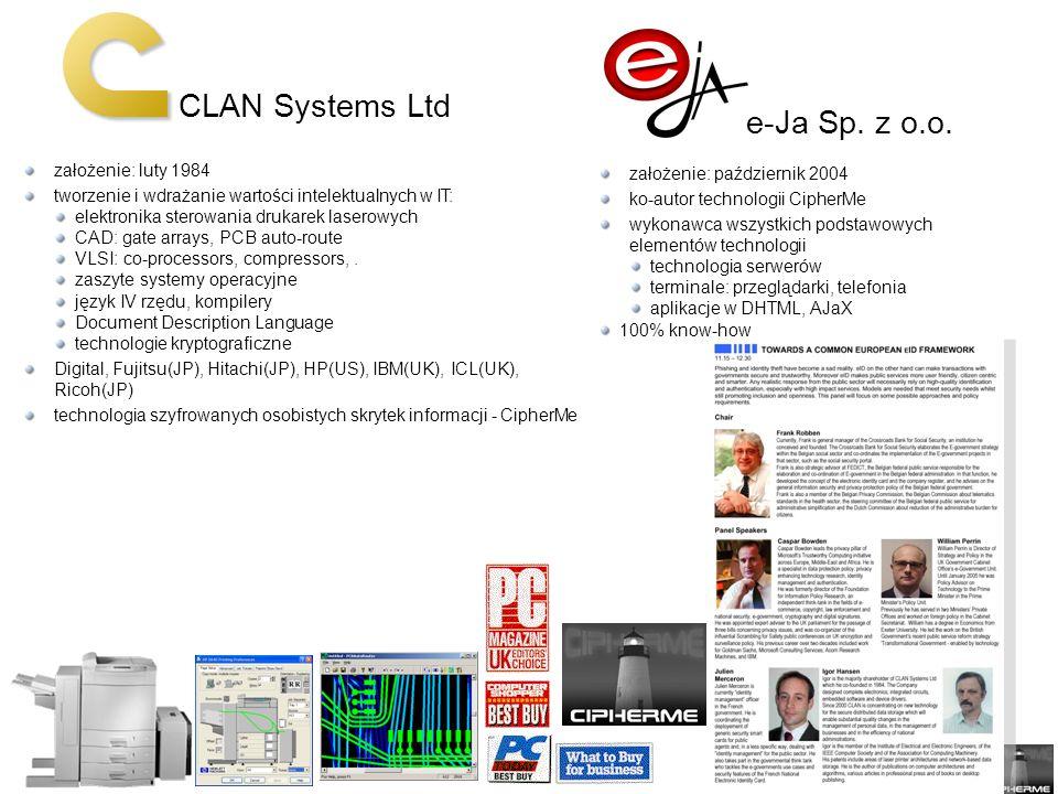 CLAN Systems Ltd e-Ja Sp. z o.o. założenie: luty 1984