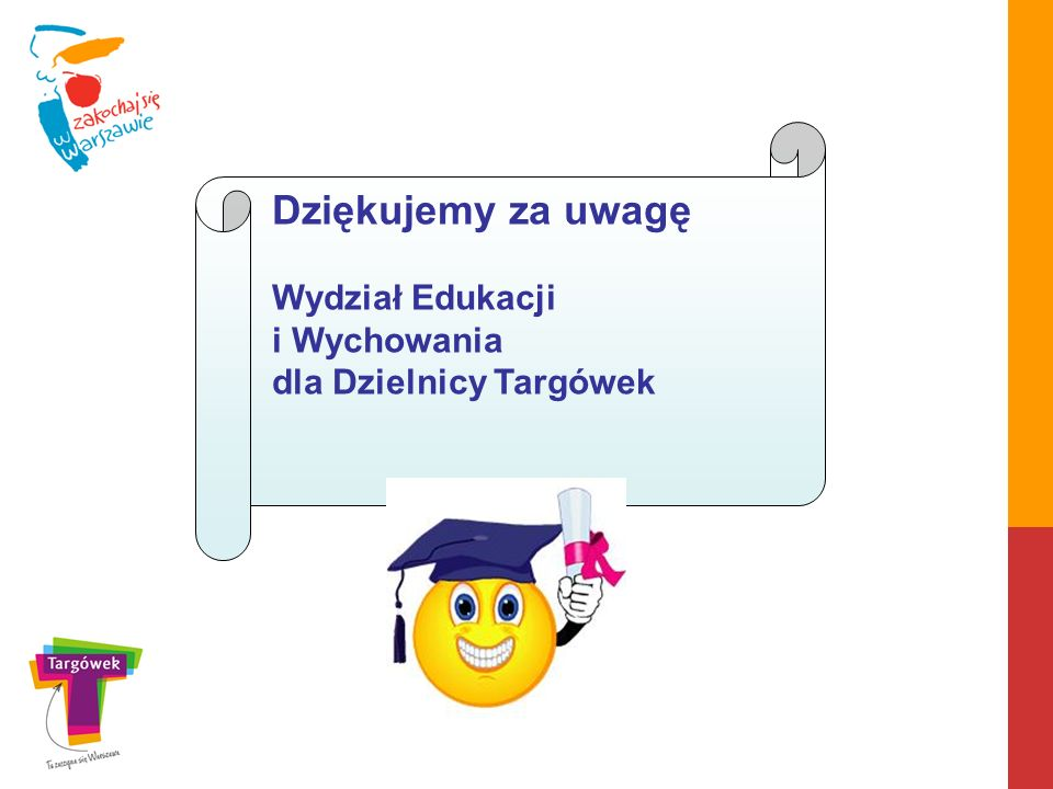 Dziękujemy za uwagę Wydział Edukacji i Wychowania