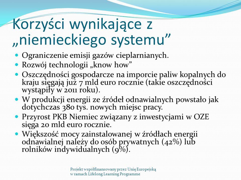 """Korzyści wynikające z """"niemieckiego systemu"""