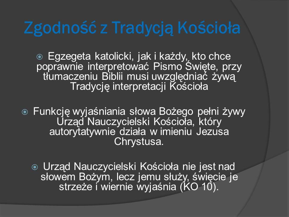 Zgodność z Tradycją Kościoła