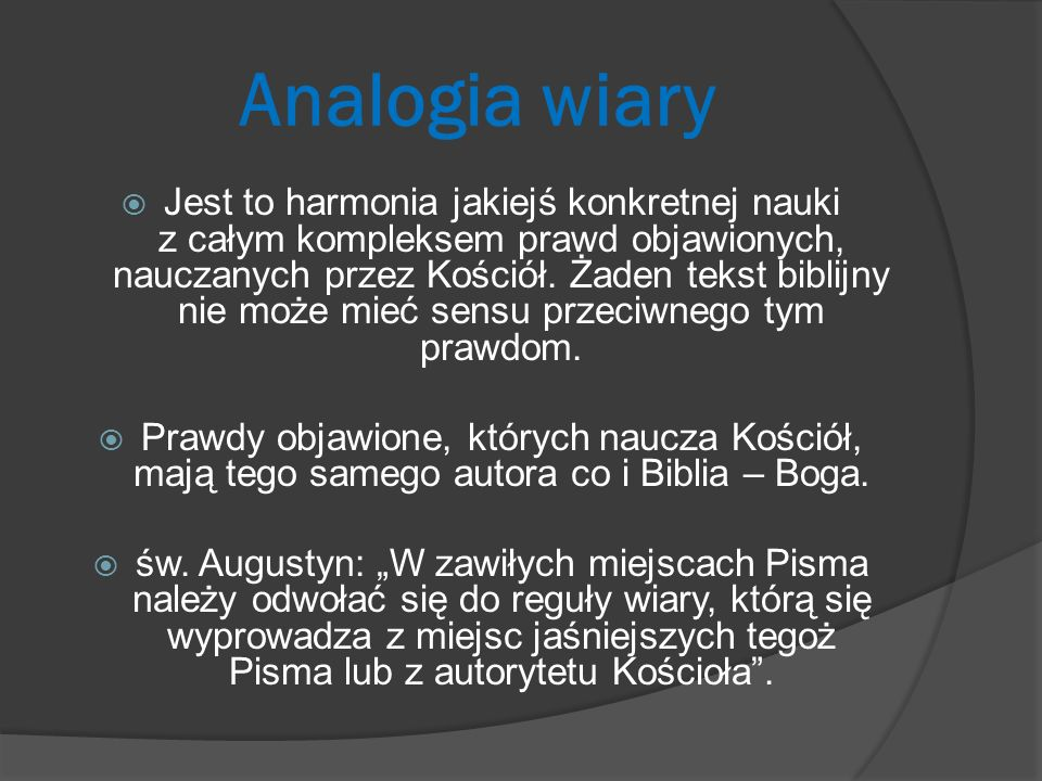 Analogia wiary